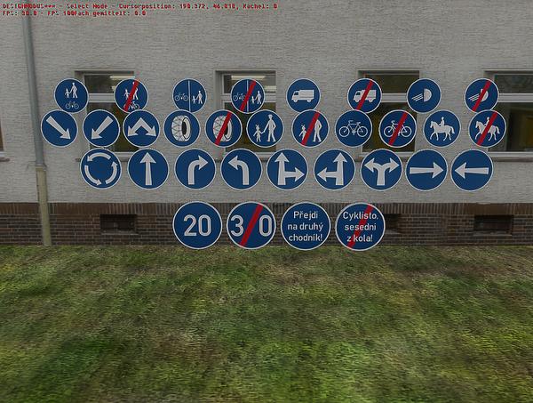 Diverse Verkehrsschilder Znacky1